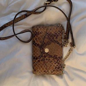 Snakeskin crossbody wallet bag!